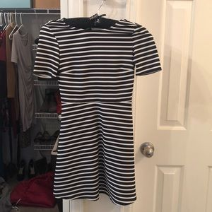 H&M black and white striped dress. Size 2.